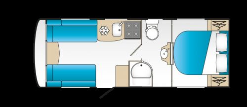 2020 Coachman VIP 545 Layout