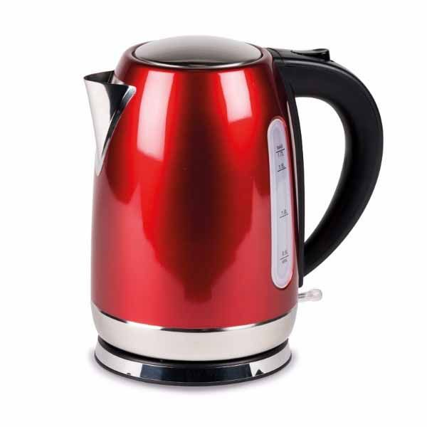 Kampa Tempest 1.7L Stainless Steel Electric Kettle Red