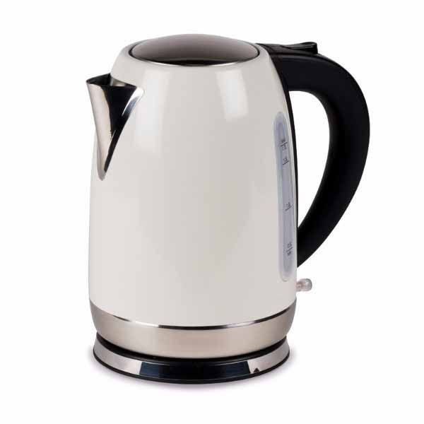 Kampa Tempest 1.7L Stainless Steel Electric Kettle Cream